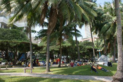 La plage côté ville