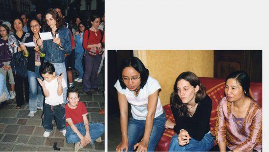 Au Festival du théâtre européen - Lan Phuong, Charlotte et Hoa, été 2004 à Grenoble