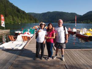 Au lac de Gérardmer avec Jean et Marie-Ange