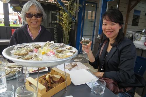 Dégustation des huîtres