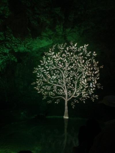 Image du son et lumière dans la grotte