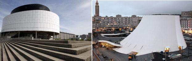 Deux maisons de la culture - la MC2 de Grenoble et le Volcan au Havre