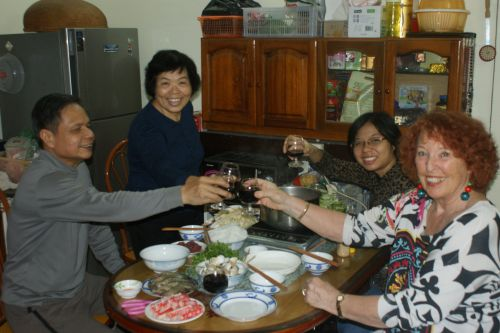 Dimanche 4 décembre, déjeuner chez les parents d'Anh Tu