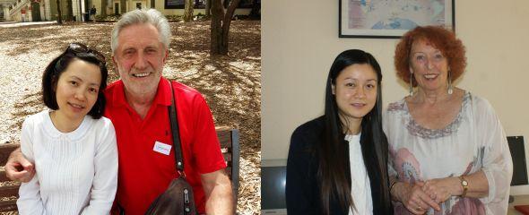 Les deux Lyonnaises, Thuy Aquableu (Hanoi le 8.12) et Kim à Lyon en juin 2016