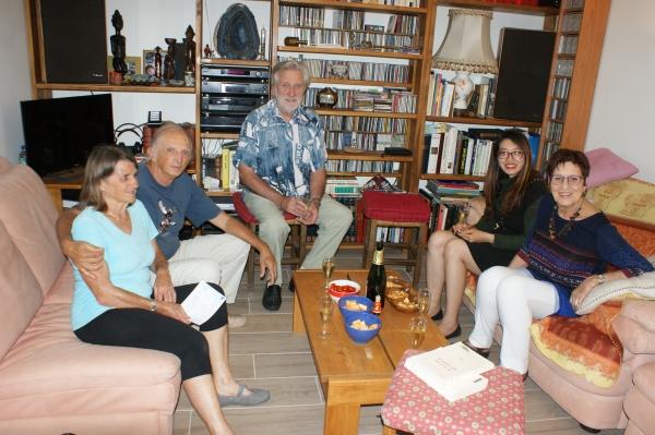 À Seyssins, chez Marie-France et Maurice, avec Annie et Jean-Claude