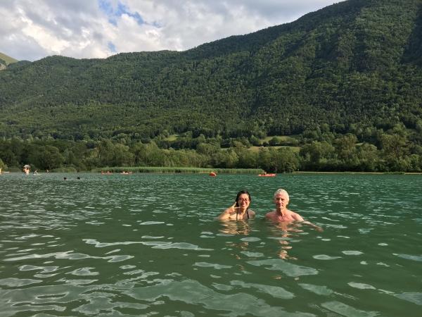 Dans l'eau avec Christian