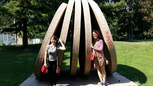 Parc de sculptures à Grenoble