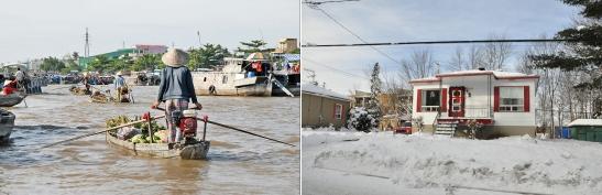 Du delta du Mékong aux hivers québécois