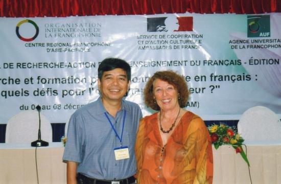 En compagnie de Dung, professeur à Danang