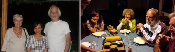 Yen avec Rosita et Gilbert Avec Serge et Bernadette
