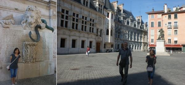 la fontaine - la place Saint-André