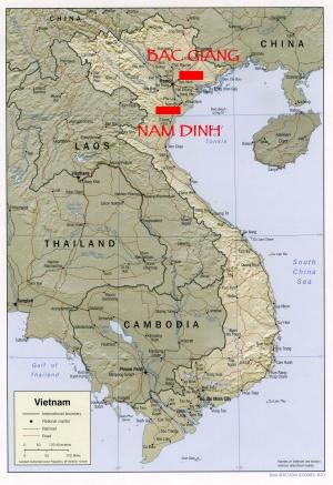 Bac Giang - Carte du Vietnam