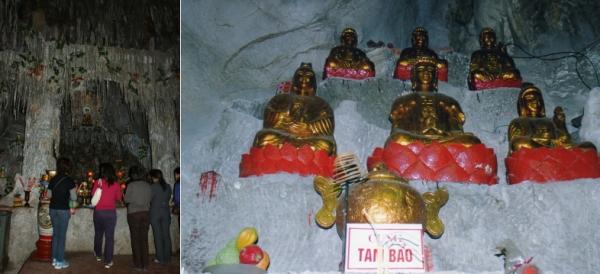 Bac Giang - Femmes en prière - Bouddhas dans la grotte Nhi Tan