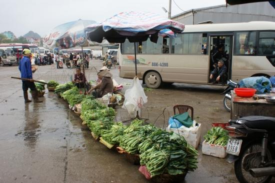 Bac Giang - Marchandes dBac Giang - e légumes verts - Lang Son