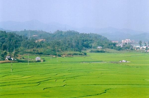 Bac Giang - Vue sur la campagne du haut de la grotte Tam Thanh Dong
