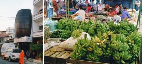 Laos - Vins de France et bananes du Laos