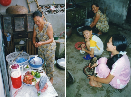 Nam-Dinh - La courette-cuisine