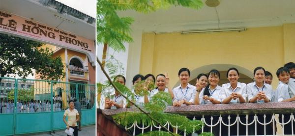 Nam-Dinh - Les lycéennes au balcon