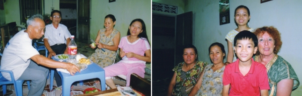 Nam-Dinh - Visites du grand frère et de la petite sœur