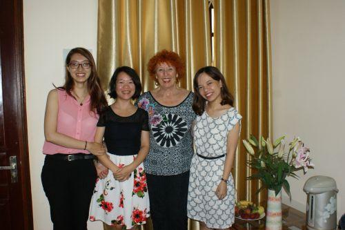 Phuong, Ngoc Lan et Yen, samedi 9 septembre au petit matin