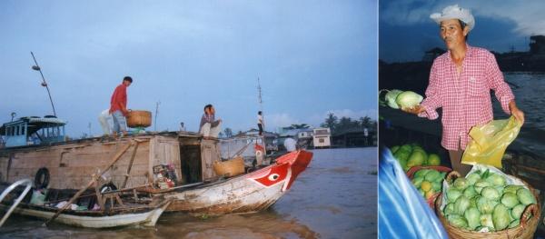 Le marché flottant de Cai Rong