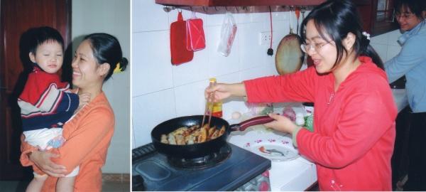 Canh Linh et son plus jeune fils - Les nems seront bientôt prêts
