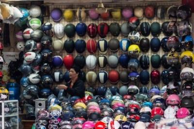 Marchande de casques