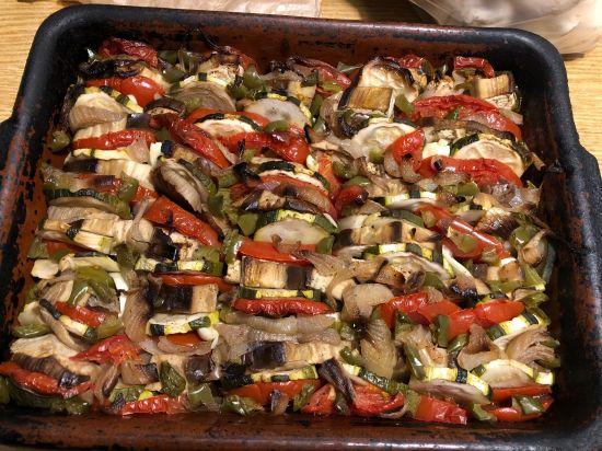Le Tian provençal de légumes que Nicole et Raymond ont fait délicieux
