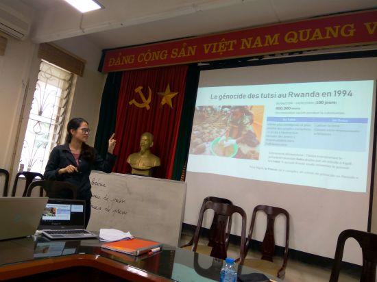 Minh Phuong lors de son exposé