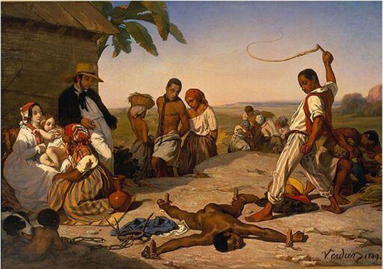 Le Châtiment des quatre piquets dans les colonies de Marcel Verdier, 1849