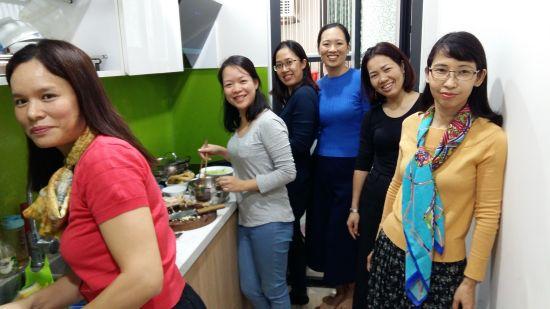 Repas entre femmes, chez Ngoc Lan