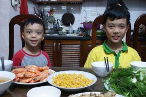 Les deux fils de Ngoc Lan