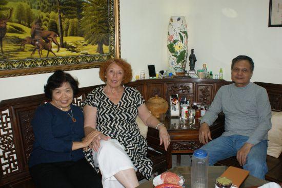 Avec les parents d'Anh tu