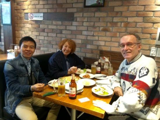 Repas amical avec Toan et Jean-Pierre