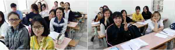 La classe de 1ère année F3 d'Anh Tu