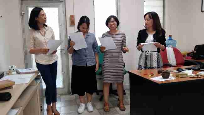 Bich, Mai Ly, Anh Tu et Yen en action !