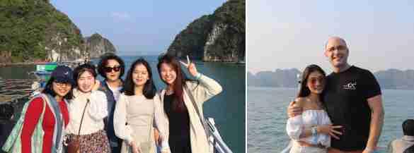 Au centre, ma voisine coréenne, à droite une jeune Chinoise très sympathique - Blake et son amie