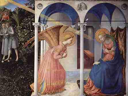 L'Annonciation de Fra Angelico, Florence