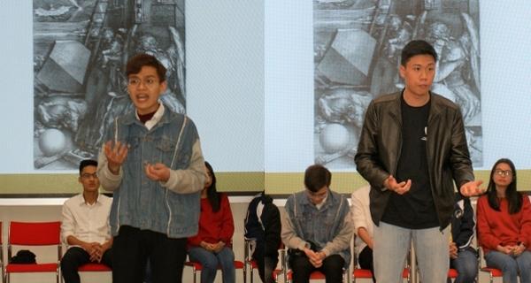 Hoang Nam à gauche et Phong à droite ont fait entendre l'empathie puis résonner la colère et l'indignation de Hugo dénonçant le travail des enfants