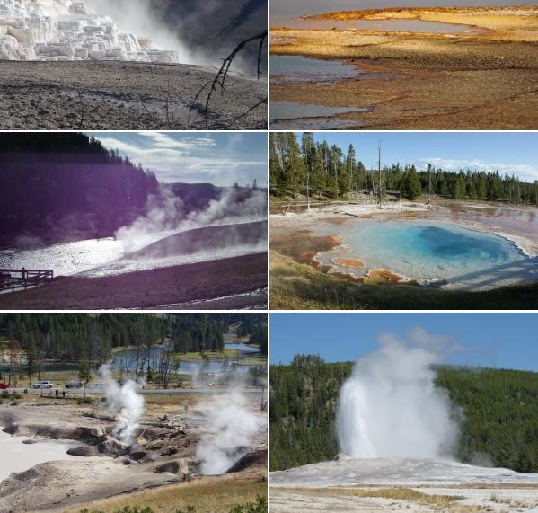 Formes et couleurs insolites du parc Yellowstone