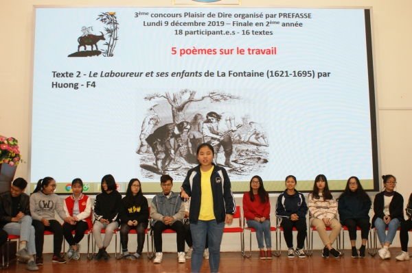 Les 4 lauréat.e.s sont Huong, Phong, Hoang Nam et Bang