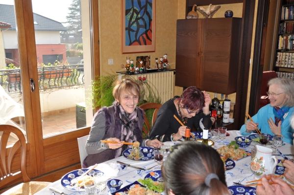 Dégustation des plats vietnamiens