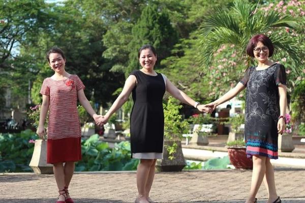 Hoai Anh au centre, entre Ngoc Lan et Dam Thuy