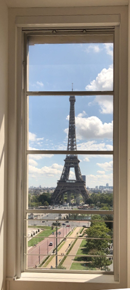 « La Tour Eiffel vue depuis le musée de l'Homme. »