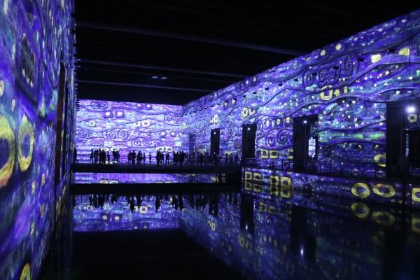 """Magnifique exposition immersive aux Bassins de Lumières à Bordeaux - """"Le plus grand centre d'art numérique au monde"""" !"""