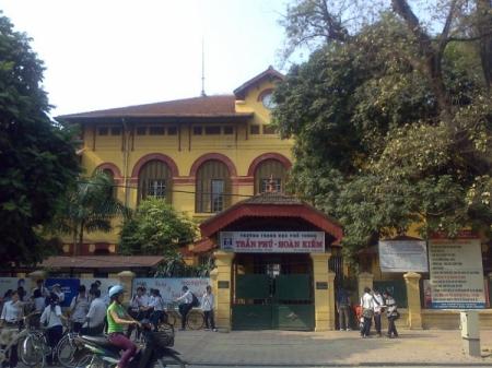 Lycée Tran Phu, anciennement lycée Albert-Sarraut Rue Ha Ba Trung, district Hoan Kiem à Hanoï