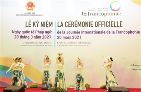 Représentation lors de la célébration officielle de la Journée internationale de la Francophonie 2021