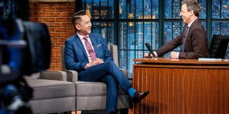 Viet Thanh Nguyen, invité du talk-show de Seth Meyers, le 9 février 2017